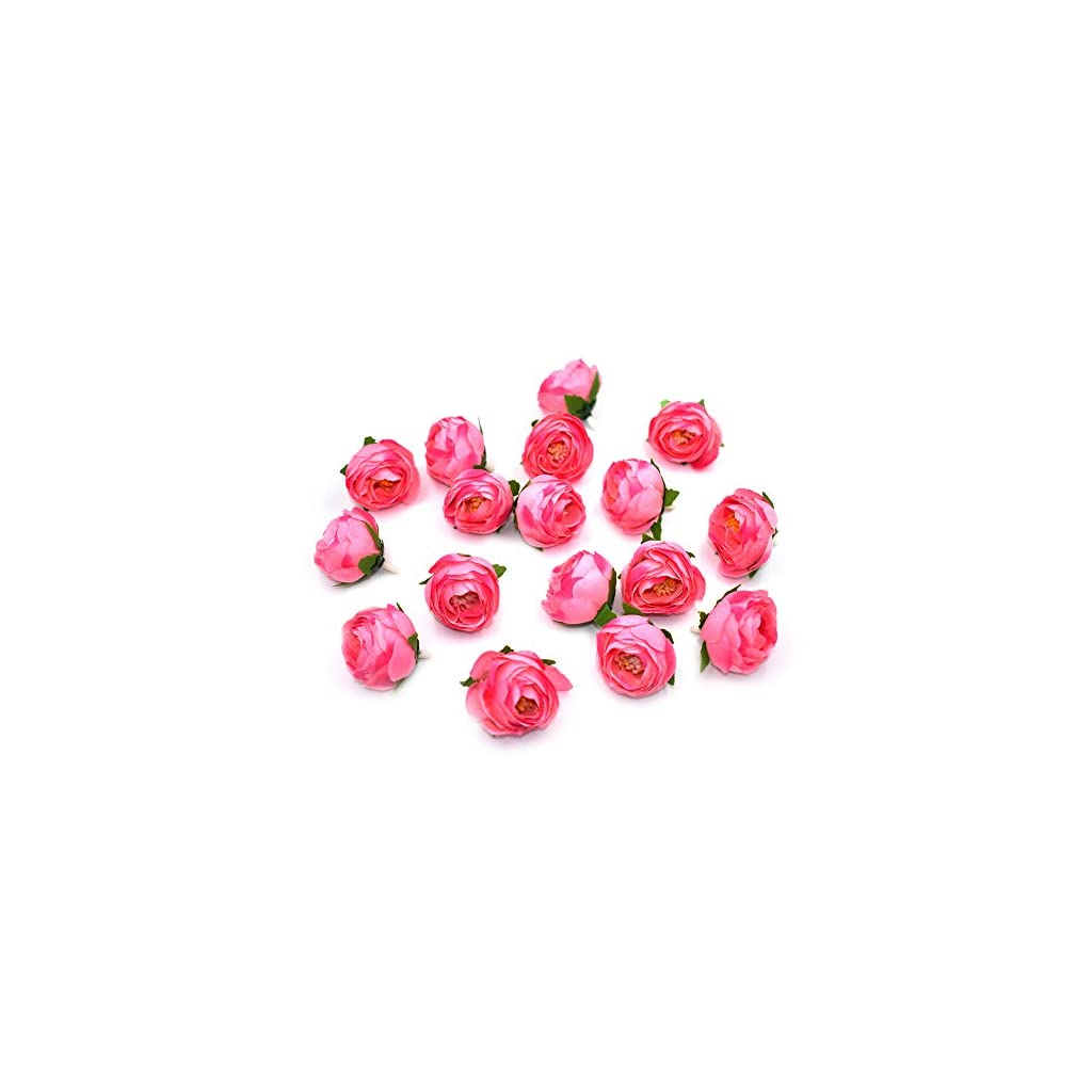 HZOnline-Artificial-Silk-Tea-Rose-Flower-Heads-Fake-Floral-Bouquet-Bud-Head-for-Bridal-Garland-Headwear-Wedding-Wreath-Boutonniere-DIY-Flower-Ornament-30pcs-Pink