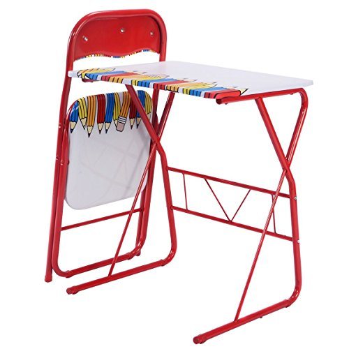 6-150 8yh3783yh chool Folding Set Kids Study ing Home Sc Children Lovely Children Writing Home rs Set Ki Table Chairs ely Table School Folding ()