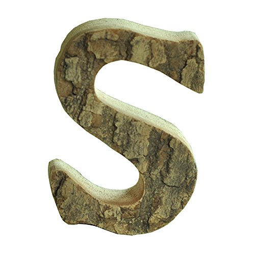 Oak-Pine Vintage Large Decorative Wooden Letters & Number DIY Wall Stickers Hanging Wall Decor Restaurant Decor for Home, Nursery, Shop, Business Signs, Name,Festival Wedding Decoration S