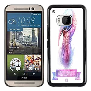 Dragon Case - FOR HTC One M9 - Love me little - Caja protectora de pl??stico duro de la cubierta Dise?¡Ào Slim Fit
