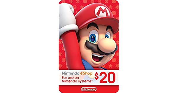 Amazon.com: $20 Nintendo eShop Gift Card [Digital Code ...