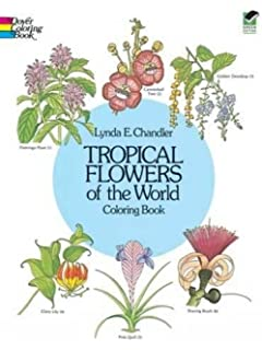 tropical flowers of the world coloring book dover nature coloring book - Flower Girl Coloring Book