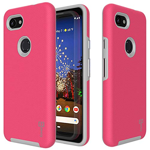 CoverON Shockproof Protective Rugged Series for Google Pixel 3a XL Case (2019), Hot Pink]()