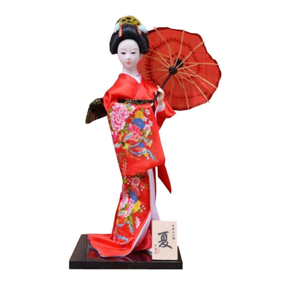 12inch japanische schö ne Kimono Geisha / Geschenke / Dekoration / Kunst Handwerk Sammlung, E Black Temptation