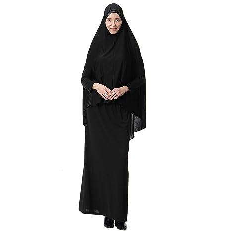FENICAL Largo musulmán Hijab con Capucha Traje de Falda Ropa ...