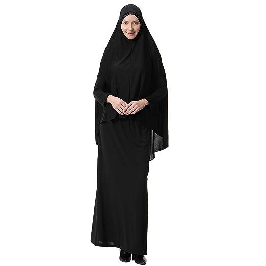 FENICAL Largo musulmán Hijab con Capucha Traje de Falda Ropa árabe ...