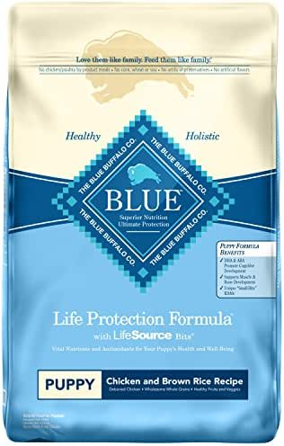Blue Buffalo Life Protection Formula Puppy Dog Food – Natural Dry Dog Food for Puppies – Chicken and Brown Rice – 30 lb. Bag