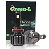 Green-L COB Chips All-in-One LED Headlight Bulbs H11 90W 9800lm High Low Beam 6000k Cool White 2 Yr Warranty(Pack of 2)