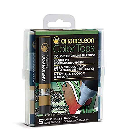 Set of 5 Color Tops Chameleon Art Products Nature Tones Quick and Easy Blending