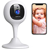 [2019 New] APEMAN Baby Monitor Camera with Crying Alerts and 2-Way Audio 1080P WiFi Home Security Camera with Motion Detection Night Vision, Compatible with Alexa/Cloud Service/iOS and Android System