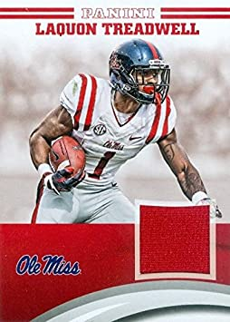 Laquon Treadwell player worn jersey patch football card (Ole Miss ...