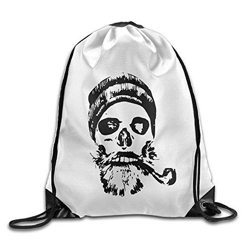 Regin Niyex Shoulder Bags Gym Bag Skull Smoking Sketch Basic Drawstring Tote Promotional Backpack Bag Promotional License Plate Frames