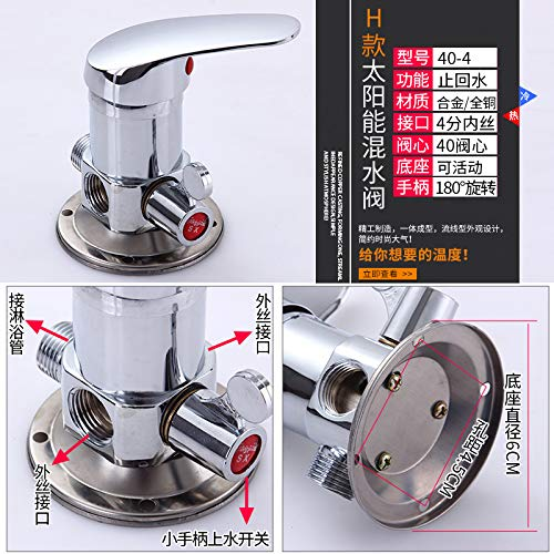 Q redOOY Shower faucet water separator shower shower faucet wall-mounted faucet solar mixing valve mounted, E copper body active base mixing valve