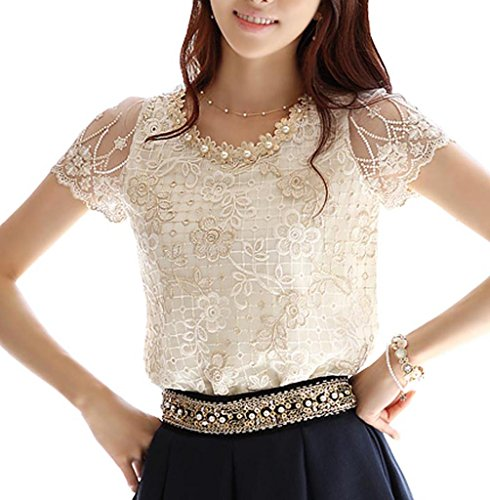 Sleeve Chiffon Floral Beading Embroidered product image