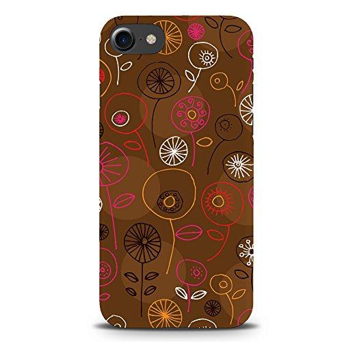 Koveru Back Cover Case for Apple iPhone 7 - Floral in Brown Color