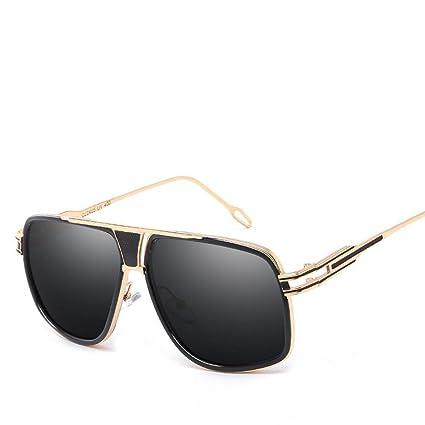 BiuTeFang Gafas de Sol Mujer Hombre Polarizadas Moda Tendencia Grandes Caja Color Cine Gafas de Sol