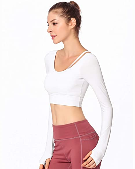 UR MAX BEAUTY Camiseta De Yoga para Mujer con Manga Larga ...