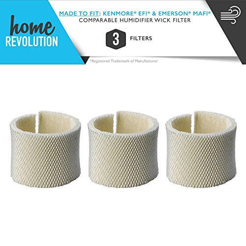 3 Home Revolution Humidifier Wick Filters Fits Kenmore EF1 14906 and Emerson MAF1