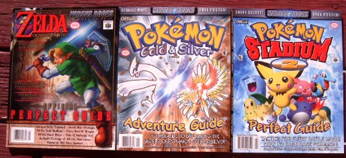 Price comparison product image 3x Versus Books POKEMON GOLD & SILVER Adventure GUIDE Vol 16 + POKEMON STADIUM 2 VOL 24 + POKEMON TRADING CARD GAME Vol 11 Official Perfect Guide (Versus Books Perfect Guides)