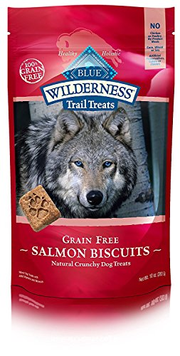 Blue Wilderness Trail Treats Grain Free Salmon Biscuits Dog Treats 10 Oz