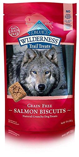 BLUE Wilderness Trail Treats Grain Free Salmon Biscuits Dog Treats 10-oz