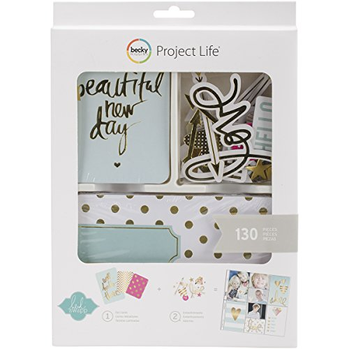 American Crafts Project Life Kit, Mini, Heidi Swapp, Gold Foil (98177) ()