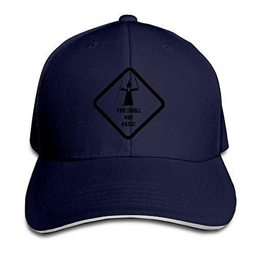 LaLago Warning Sign Cool Sunbonnet Sandwich Hat (Milkman Costume Amazon)