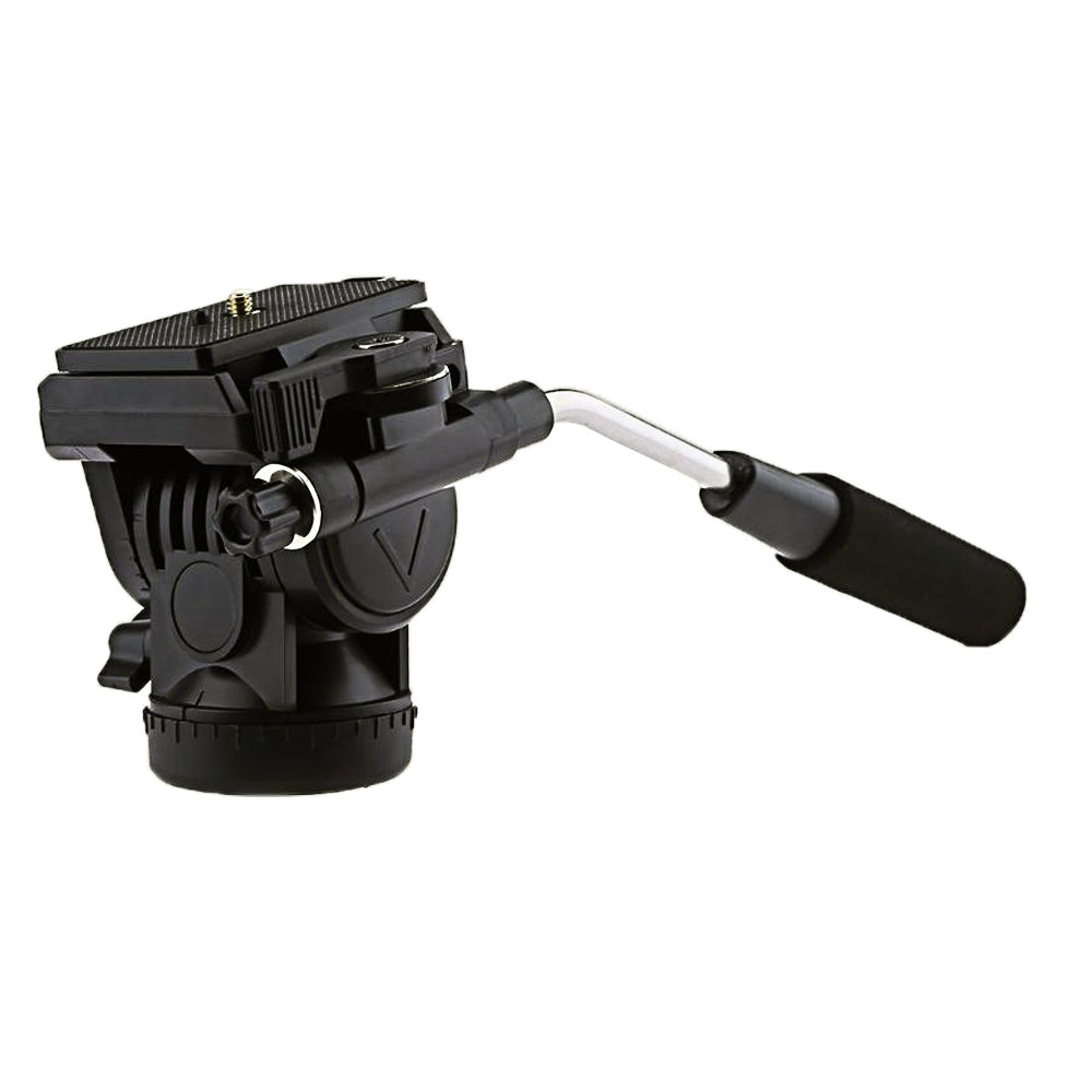 GkGk G09 Fluid Drag Pan Head, Panoramic Video Tilt Head with Quick Release Plate and 1/4'' To 3/8'' Convert Screw Adapter for Tripod, Monopod, Slider, DSLR Camera, Camcorder, Max Load Up To 8.8 Pound by GkGk