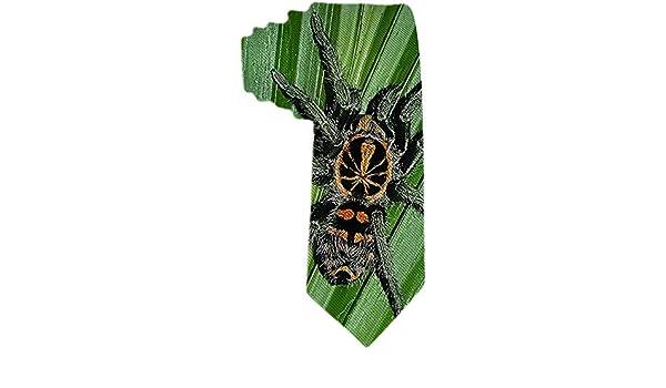 Corbata de seda de poliéster y araña de parche de calabaza ...