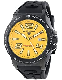 Swiss Legend Men's 10043-BB-014 Sprint Racer Grey Dial Black Silicone Watch