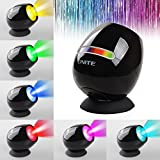 [Upgrade] Onite Living 256 Colors LED Light, Touch Pad Control Colorful Mood Rechargeable Battery Built in LED Lamp, Multidimensional Placed Dream Atmosphere Multi-Colour Changing Lamp for Party, Gift, Holiday, Valentine's day, comes with free USB Charging Cable and Adapter (Black)