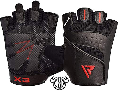 RDX Gym Weight Lifting Gloves Workout Fitness Bodybuilding Powerlifting Breathable Wrist Support Strength Training Exercise