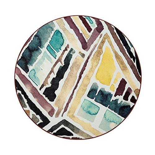 Rugs Pad Carpet Creative Floor Mat Tatami Bedside Swivel Chair Mat Nordic Creative Round Carpet Bedroom Carpet (Color : 80cm)