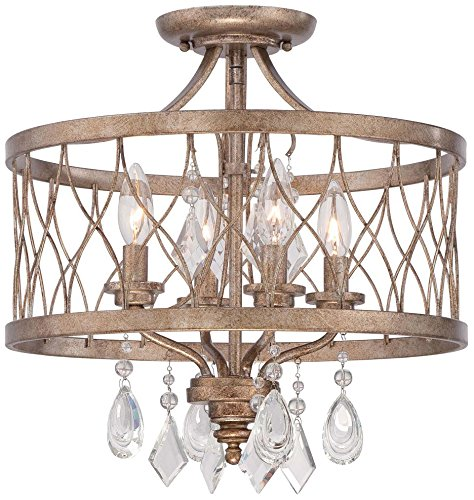 Minka Lavery 4403-581 4-Light Semi Flush (Convertible To Mini Chandelier), Olympus Gold Finish