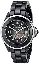 Klaus Kobec Women's KK-10004-05 Luna Analog Display Japanese Quartz Black Watch