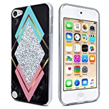 ipod 5 bumpers with clear back - J.west iPod Touch 7 Case, iPod Touch Case 6th Generation, iPod 5 Case, Marble Design Slim Anti-Scratch Flexible Soft TPU Bumper Back Protective Case for iPod Touch 5th/6th/7th Generation (20-Triangle