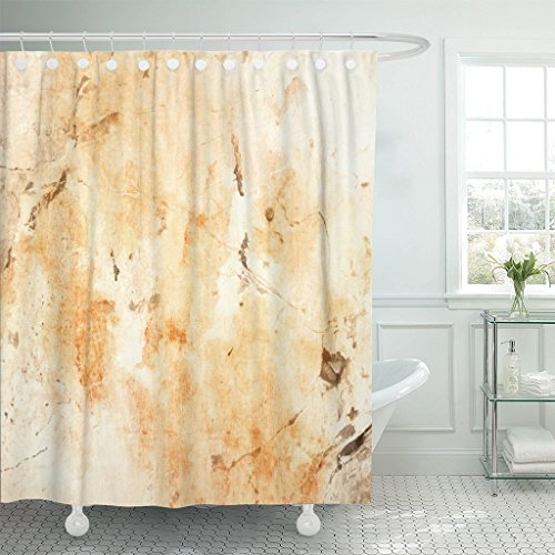 VaryHome Shower Curtain Beige Caffe Coffee Abstract With Sta