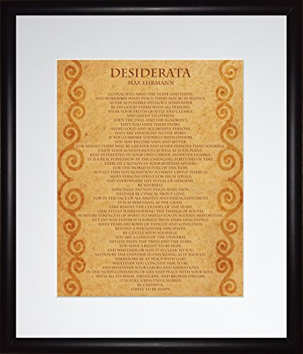 "WeSellPhotos Max Ehrmann Poem ""Desiderata"" 