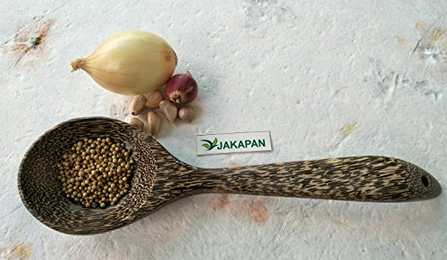 Jakapan 1Pcs. Natural Wooden Spoon,Wooden Ladle Soup Spoon Long Handle, Soups Cooking Tools Kitchen (Palm wood)