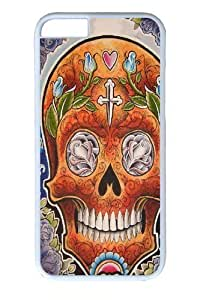 Case Cover For Ipod Touch 4 Case and Cover -Orange Skull PC Case Cover For Ipod Touch 4 and Case Cover For Ipod Touch 4 White