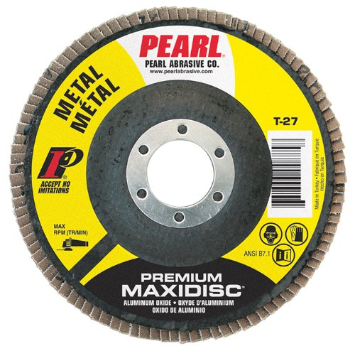 Pearl Premium 4'' x 5/8'' AL/OX T27 Flap Disc - 60 GRIT (Pack of 10)