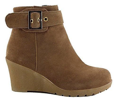 Shoes Couleur Unie Ageemi Femme Rond Zip Suede Eaw1Ad