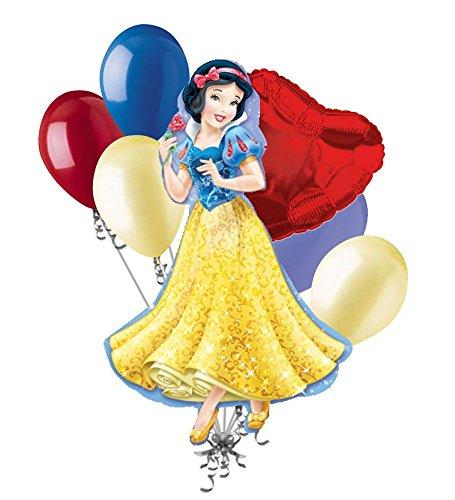 7 pc Disney Princess Snow White Balloon Bouquet Happy Birthday Snowwhite ()