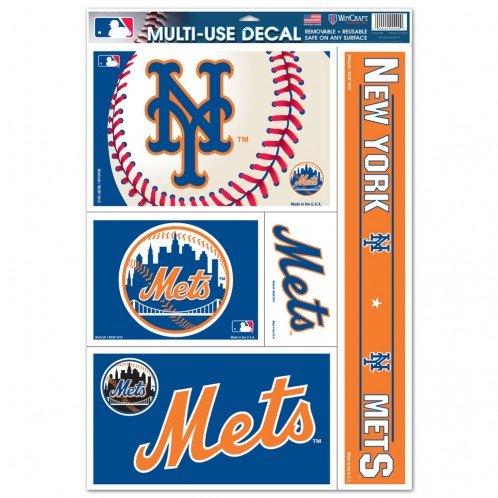 (Wincraft MLB New York Mets 15559412 Multi Use Decal, 11 x 17, Black)