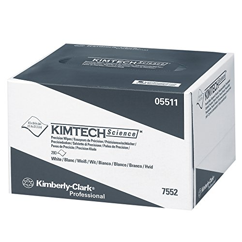 Kimtech Science Precision Wipes (05511), White Tissue Wipers, 1-Ply, 60 Pop-Up Boxes/Case, 280 Wipes/Box, 16,800/Case - 280 Tissues