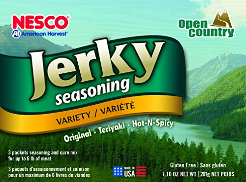 Nesco BJV-6 Jerky Spice Works, 3 Flavors, Variety-Pack, 7.10 oz - Food Seasoning