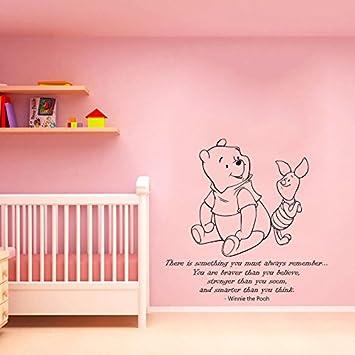 Wandtattoo Winnie Pooh Zitat Sprüche Wandaufkleber für Baby ...