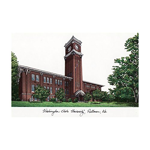 Campus Images Washington State University Campus Images Lithograph Print