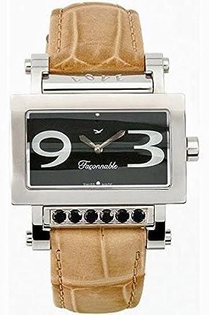 Faconnable Damen-Armbanduhr Analog Quarz Beige FDRSC