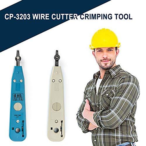 CP-3203 Pince /à sertir pour pince /à sertir pour module de r/éseau Pince coupante pour module de r/éseau